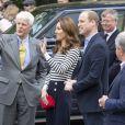 Le prince William, duc de Cambridge, et Kate Catherine Middleton, duchesse de Cambridge, au lancement de la King's Cup, une régate qui se déroulera au mois d'août sur l'île de Wight, à Londres. Le 7 mai 2019.