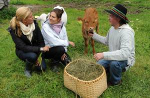 Pour les charmantes princesses Madeleine et Victoria de Suède, le bonheur est dans le pré... avec les veaux !