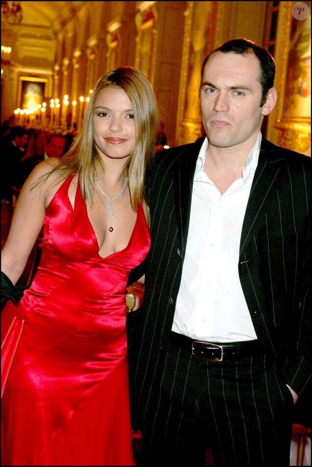 Séverine Ferrer et Frédéric Mazé - Le dîner de la renaissance du châne de Marie-Antoinette au Grand Trianon, Versailles, le 18 mars 2005.
