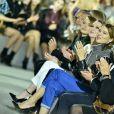 Emma Stone, Julianne Moore et Léa Seydoux - Défilé Louis Vuitton, collection croisière 2020 au TWA Flight Center, à l'aéroport JFK. New York, le 8 mai 2019.