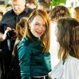 Emma Stone et Alicia Vikander - Défilé Louis Vuitton, collection croisière 2020 au TWA Flight Center, à l'aéroport JFK. New York, le 8 mai 2019.