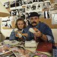En France, à Paris, rendez-vous avec Vanessa Paradis et son oncle Didier Pain. Juillet 1987 © Alain Canu via Bestimage