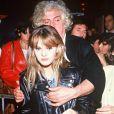 Vanessa Paradis et le parolier Etienne Roda-Gil à Paris le 29 septembre 1988.