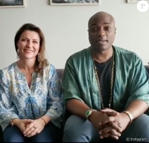 La princesse Märtha-Louise de Norvège et le chaman Durek, ici lors d'une vidéo de promotion de leur tournée publiée sur Instagram en avril 2019, ont officialisé le 12 mai 2019 leur histoire d'amour.