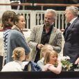 Ari Behn, ex-époux de la princesse Märtha Louise de Norvège, lors de l'Oslo Horse Show le 16 octobre 2016 auquel participaient leurs filles.