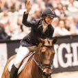 La princesse Märtha Louise de Norvège a fait son retour dans le monde du saut d'obstacles après seize ans d'absence lors de l'Oslo Horse Show le 16 octobre 2016.