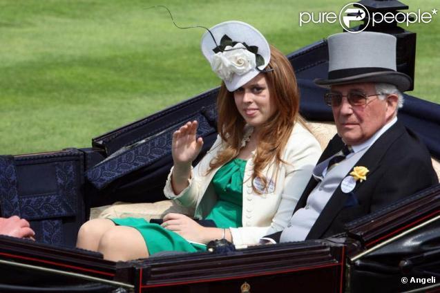 Princesse Beatrice et son père le prince Andrew à l'Ascot Racecourse. 16/06/09