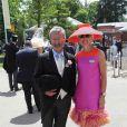 Eddie Jordan et sa femme à l'Ascot Racecourse. 16/06/09