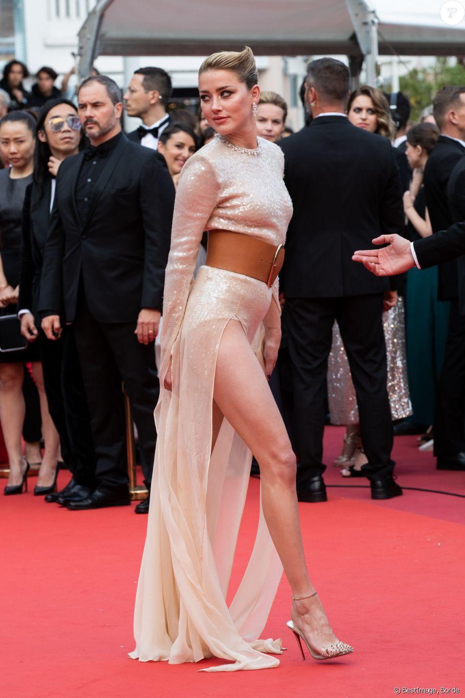 """Amber Heard - Montée des marches du film """"Les Misérables"""" lors du 72ème Festival International du Film de Cannes. Le 15 mai 2019 © Borde / Bestimage"""