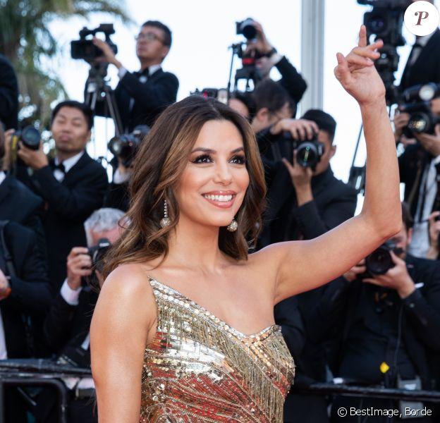 """Eva Longoria (bijoux de Grisogono - robe Cristina Ottaviano) pour la montée des marches du film """"Rocketman"""" lors du 72e Festival International du Film de Cannes. Le 16 mai 2019 © Borde / Bestimage"""