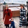 Diana, le prince William et Sarah Ferguson en 1986.
