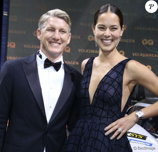 Bastian Schweinsteiger et sa femme Ana Ivanovic à la soirée GQ Men of the year 2018 à l'Opéra-Comique de Berlin le 8 novembre 2018. © Future-Image via ZUMA Press / Bestimage