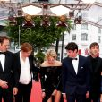 "Paul Hamy, Justine Triet (enceinte), Virginie Efira, Niels Schneider, Gaspard Ulliel - Montée des marches du film ""Sibyl"" lors du 72ème Festival International du Film de Cannes. Le 24 mai 2019 © Jacovides-Moreau / Bestimage"