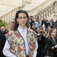 Andrea Carpenzano arrive au Musei Capitolini pour assister au défilé Gucci, collection croisière 2020. Rome, le 28 mai 2019.