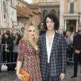 Carolina Crescentini et son mari Francesco Motta arrivent au Musei Capitolini pour assister au défilé Gucci, collection croisière 2020. Rome, le 28 mai 2019.
