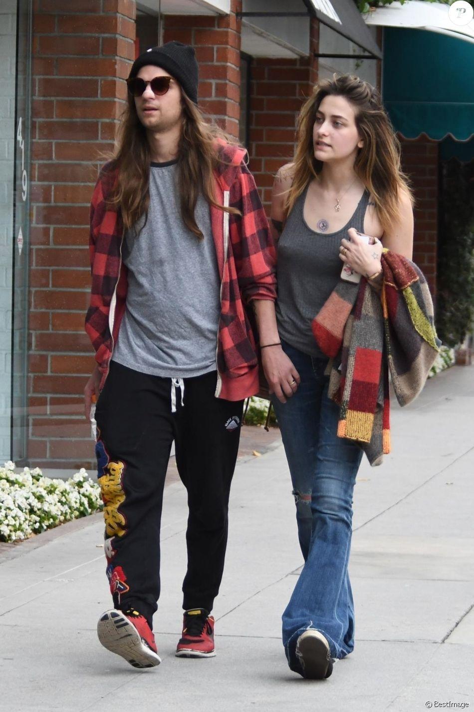 Exclusif - Paris Jackson et son compagnon Gabriel Glen se rendent chez le dentiste dans le quartier de Beverly Hills à Los Angeles, le 23 mai 2019.