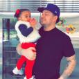 Rob Kardashian et sa fille Dream. 2018.