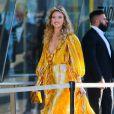 Martha Hunt arrive au Brooklyn Museum pour les CFDA Fashion Awards 2019 à New York, le 3 juin 2019.