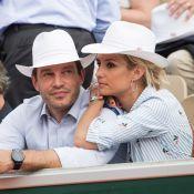 Élodie Gossuin et son mari Bertrand complices : Baisers et tendresse en tribunes