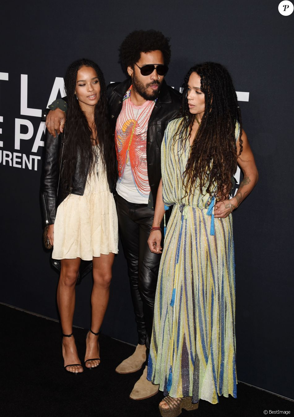 Zoe Kravitz Et Ses Parents Lenny Kravitz Et Lisa Bonet Au