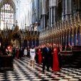 Donald Trump et sa femme Melania en visite à l'abbaye de Westminster à Londres le 3 juin 2019, où ils ont déposé une couronne de fleurs sur la tombe du soldat inconnu.