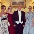 Donald Trump et ses filles au palais de Buckingham, le 3 juin 2019.