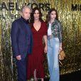 Michael Douglas, Catherine Zeta-Jones, leur fille Carys lors du photocall du défilé de mode Michael Kors automne hiver 2019/2020 lors de la fashion week de New York le 13 février 2019.