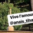 Image du mariage de François-Xavier Demaison et Anaïs Tihay, le 7 juin 2019 au château de Valmy à Argelès-sur-Mer (Pyrénées-Orientales), partagée par Laurie Cholewa dans sa story Instagram.