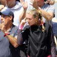 Kristina Mladenovic, la compagne de Dominic Thiem, assiste au match de son chéri face à Novak Djokovic à Roland Garros. Paris, France, le 8 juin 2019. © Jacovides / Moreau/Bestimage