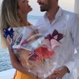 Camille Schneiderlin et Morgan fêtent leur premier anniversaire de mariage à Nice, le 8 juin 2019