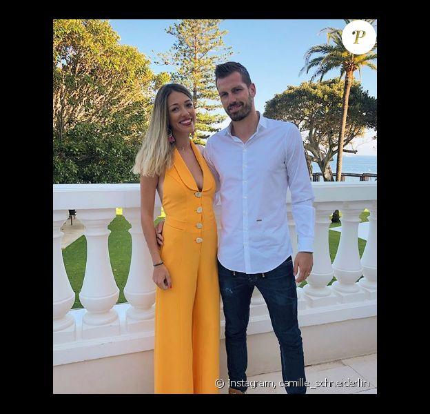 Camille Schneiderlin et son mari Morgan à Nice pour leur premier anniversaire de mariage, Instagram, 9 juin 2019