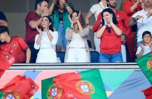 Cristiano Ronaldo champion : baiser de la victoire avec Georgina