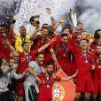 Cristiano Ronaldo a remporté la première édition de la Ligue des nations avec son équipe du Portugal, à Porto, le 9 juin 2019.