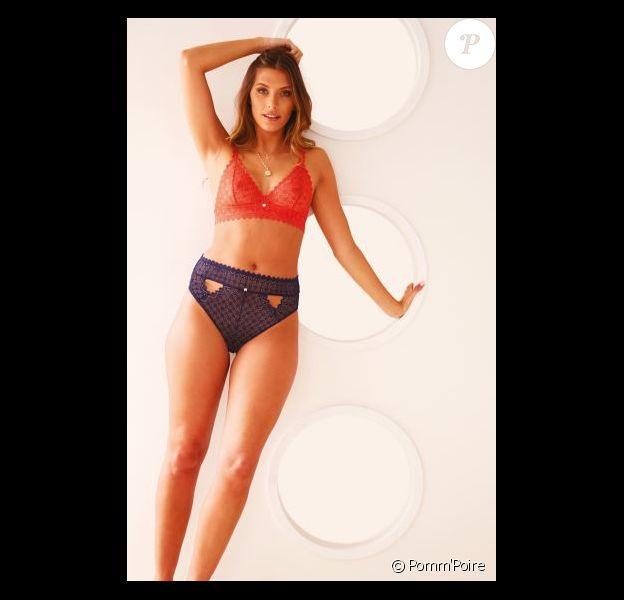 Camille Cerf, créatrice et égérie de la collection de lingerie Culottée pour Pomm'Poire. Juin 2019.