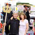 Harvey Keitel et sa femme Daphna Kastner, roi et reine lors de la Mermaid Parade à New York le 20 juin 2009
