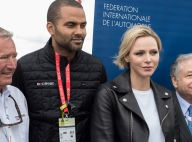 Charlene de Monaco : Glamour en perfecto en cuir, avec Tony Parker