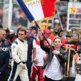 La princesse Charlene de Monaco donne le départ de la 87ème édition des 24 Heures du Mans le 15 juin 2019. © Cyril Moreau / Bestimage