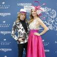 Christophe Guillarmé et Sophie Thalmann (robe Christophe Guillarmé) au Prix de Diane Longines à l'hippodrome de Chantilly, le 16 juin 2019. © Marc Ausset-Lacroix/Bestimage