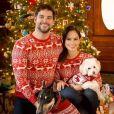 Brant Daugherty et sa chérie Kim Hidalgo le 25 décembre 2017.