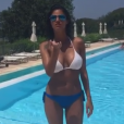 Maëva Denat, la compagne de David Ginola, s'affiche en bikini sur Instagram le 18 juin 2019.