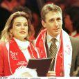 La princesse Stéphanie de Monaco et Daniel Ducruet en février 1996 à Monaco.