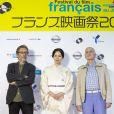 Nils Tavernier, Miki Nakatani et Michel Ocelot lors du 27e Festival du Film Français au Japon organisé par Unifrance à Yokohama, au Japon, le 20 juin 2019. © Rodrigo Reyes Marin/Zuma Press/Bestimage