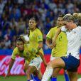 But d'Amandine Henry lors de la 8ème de finale de la Coupe du Monde Féminine de football opposant la France au Brésil au stade Océane au Havre, France, le 23 juin 2019. la France a gagné 2-1a.p. © Pierre Perusseau/Bestimage