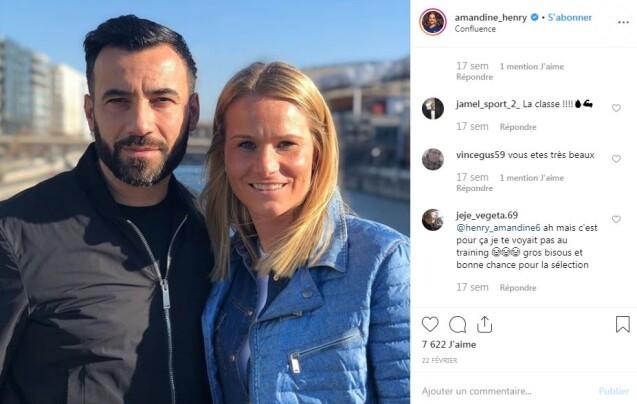 Amandine Henry et son compagnon Karim sur Instagram le 22 février 2019.