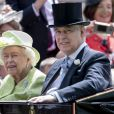 La reine Elisabeth II et le prince Andrew, duc d'York - La famille royale d'Angleterre lors du Royal Ascot, jour 5. Le 22 juin 2019