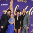 Will Smith avec sa femme Jada Pinkett Smith et ses enfants Trey Smith et Willow Smith à la première du film Aladdin au El Capitan Theatre dans le quartier de Hollywood à Los Angeles, le 21 mai 2019