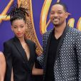 Willow Smith avec sa femme Jada Pinkett Smith et ses enfants Trey Smith et Willow Smith à la première du film Aladdin au El Capitan Theatre dans le quartier de Hollywood à Los Angeles, le 21 mai 2019
