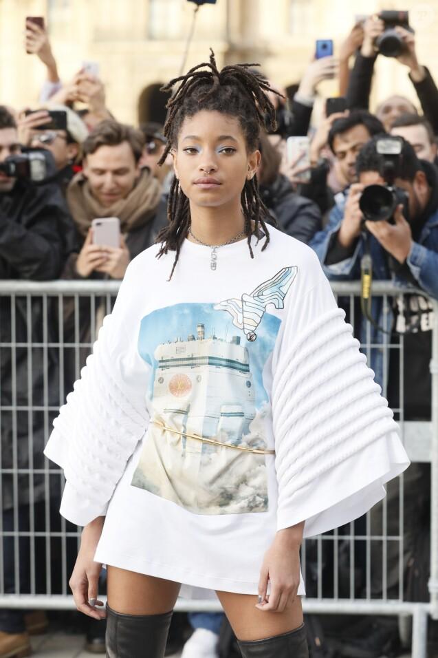 Willow Smith - Arrivée des people au défilé Louis Vuitton collection prêt-à-porter Automne-Hiver lors de la fashion week à Paris, le 5 mars 2019. © Veeren/CVS/Bestimage