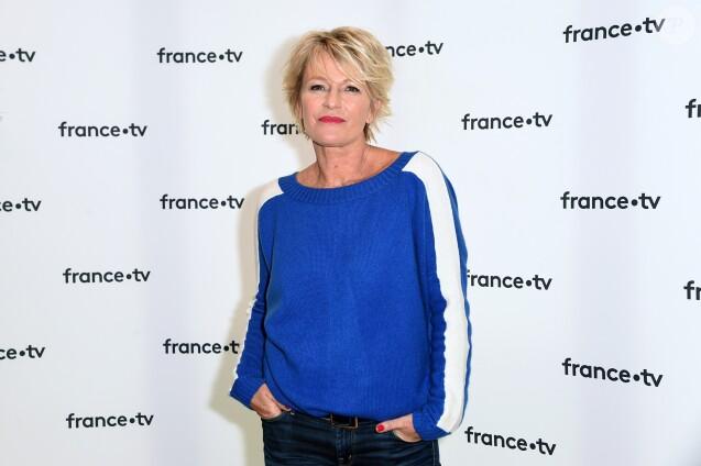 Sophie Davant lors de la conférence de presse du Téléthon 2018 dans les locaux de France Télévision à Paris le 8 novembre 2018. © Giancarlo Gorassini / Bestimage