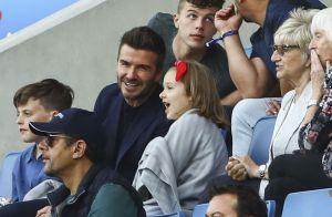 David Beckham embrasse tendrement Harper lors de la Coupe du monde féminine